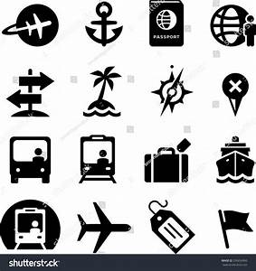 Travel Icon Set. Vector Icons For Digital And Print ...
