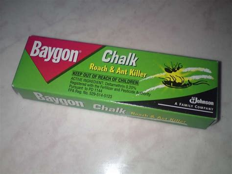 finally bought chalk roach  ant killers  bright spot