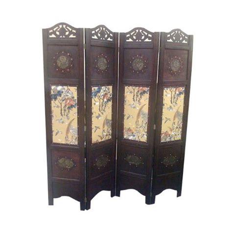 Vintage Oriental Style 4 Panels Screen Room Divider Ebay