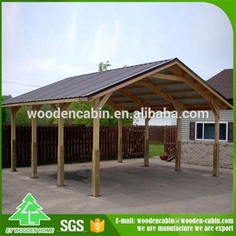 Wooden Car Ports by Cheap Price Prefab Wooden Carport 2 Car Wooden Carport For
