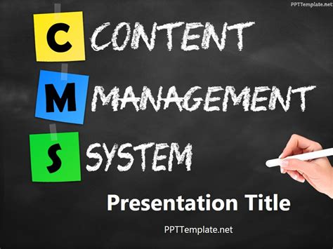 Free Cms Free Cms Chalkhand Black Ppt Template