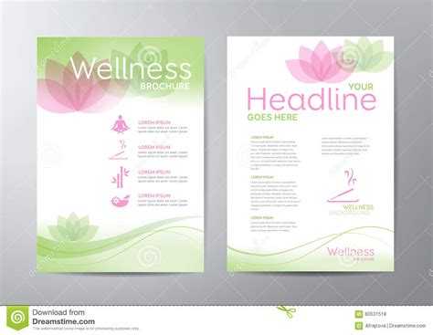 wellness brochure stock vector image