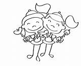 Coloring Pages Scout Brownies Brownie sketch template