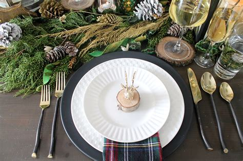 rustic glam christmas tablescape   chaos