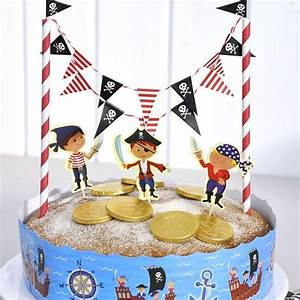 Pirate Party Cake Bunting & Decorating Kit - Pipii