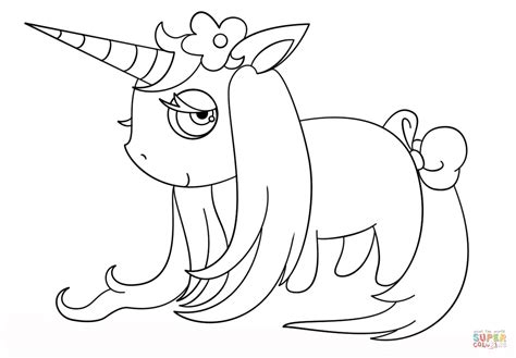 chibi unicorn coloring page  printable coloring pages