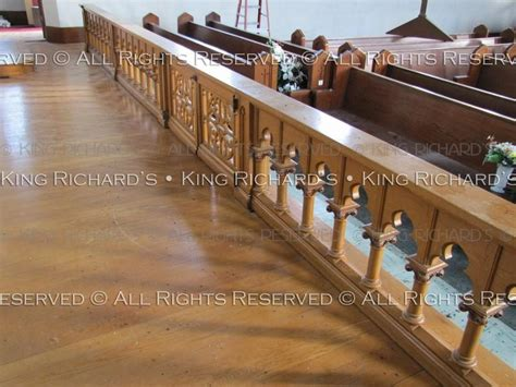 altar rails antique  fine hand carved gothic oak