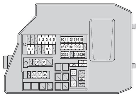 2009 Toyotum Matrix Fuse Diagram toyota matrix second generation mk2 e140 2009 2014