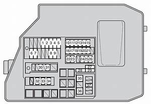 Toyota Matrix Second Generation Mk2  E140  2009 - 2014   U2013 Fuse Box Diagram