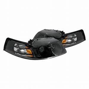 Spec-D® - Ford Mustang 2000 Black Projector Headlights