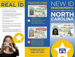 ncdot nc real id With documents for real id