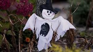 Basteln Halloween Mit Kindern : halloween deko basteln gruselige geistergirlande ~ Yasmunasinghe.com Haus und Dekorationen