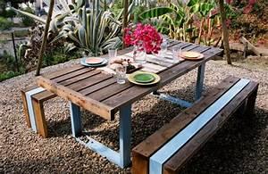 7 DIY Outdoor Pallet Table Pallets Designs