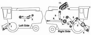 B00695 - Straw Spreader Drive Belt For Case-ih Combine