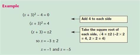 quadratic equations gcse revision maths number