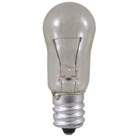 6 watt 12 volt e12 12mm clear balloon style light bulb
