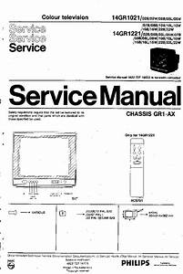 Philips Gr1ax Chassis 14gr1021 14gr1221 Sm Service Manual