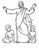 Bible Coloring Pages Books Printable Jesus Preschoolers Tells sketch template