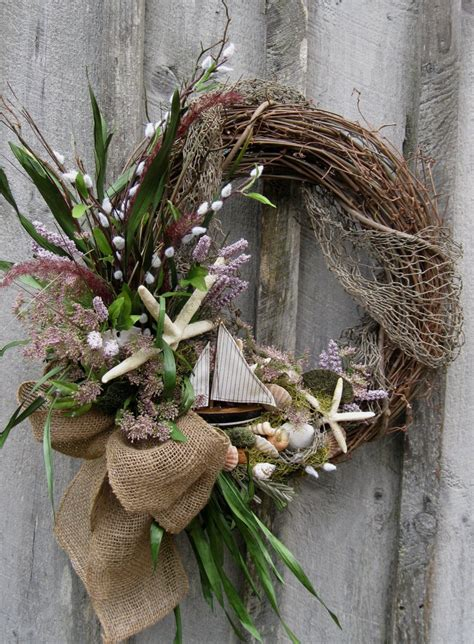 coastal door wreaths sailboat wreath wreath summer cottage wreath coastal