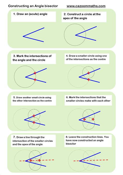 constructing an angle bisector geometry