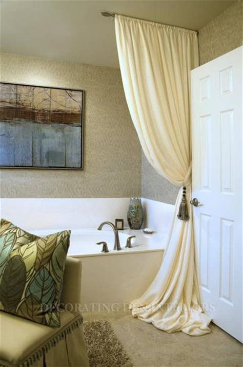 bathroom decor ideas luxurious shower curtains rotator rod