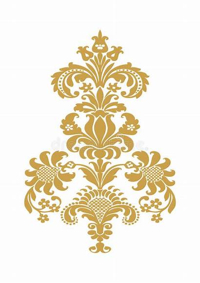 Gold Flower Vector Abstract Element Floral Background