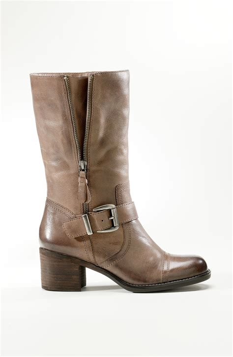 franco sarto jelly boot brown cooltaupe lyst