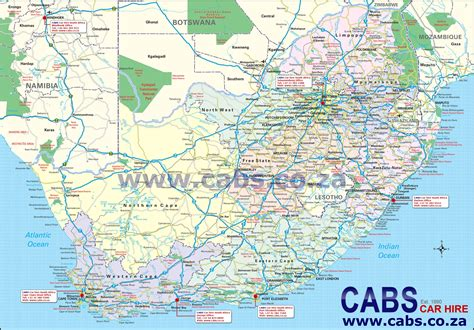 map of south africa cabs car hire south africa