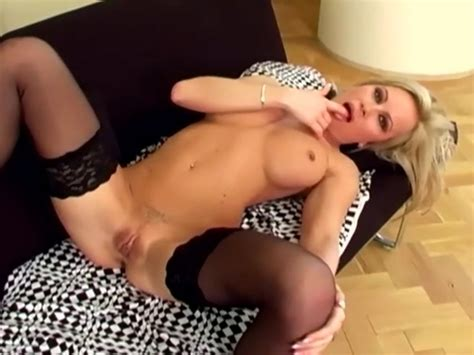 Sexy Milf In Lingerie Masturbating On A Couch Free Porn