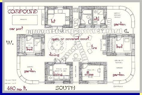 compound template  strawbale house strawbale