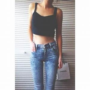 Black crop top High waisted Jean Pant | Outfits | Pinterest | Pants Crop tank and Stay gold