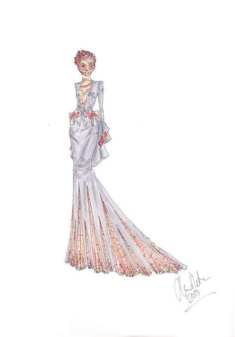 fashion illustration rose lace dress drawing drawing