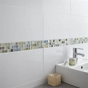Carrelage Salle De Bain Blanc : carrelage mural en fa ence blanc 25 x 40 cm ~ Melissatoandfro.com Idées de Décoration