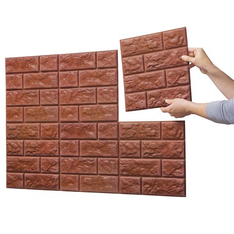 faux wall tile faux brick wall tile decals set of 6 ebay