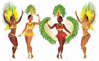 Samba Festival Costume Dancers Carnaval Brazilian Carnevale