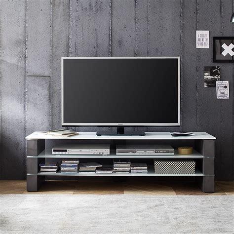 aleena glass tv stand  white  concrete decor