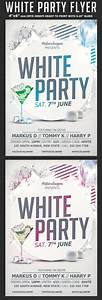 White Affair Party Flyer Template | flyerstemplates