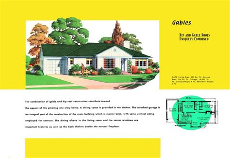 1 bedroom floor plans ranch homes plans for america in the 1950s