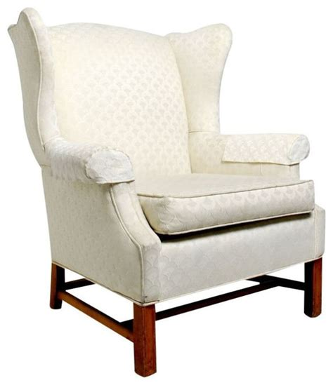 sold out vintage modern white wingback lounge chair