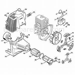 Stihl Kw 85 Sweeper Drum  Kw85  Parts Diagram  Ignition System