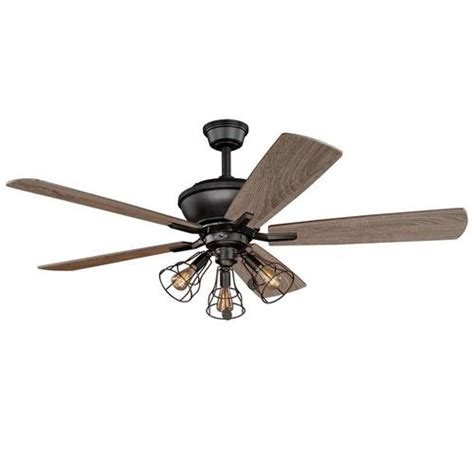Menards Outdoor Ceiling Fans by Turn Of The Century Manchester 52 In Bronze Ceiling Fan