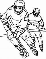 Hockey Coloring Pages sketch template