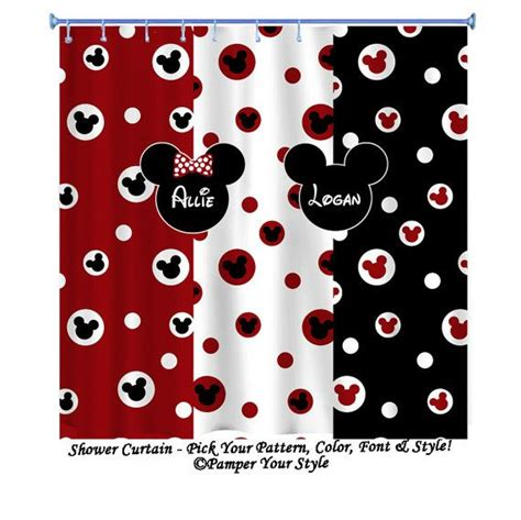 mickey mouse shower curtain minnie mouse shower curtain disney shower curtain sibling