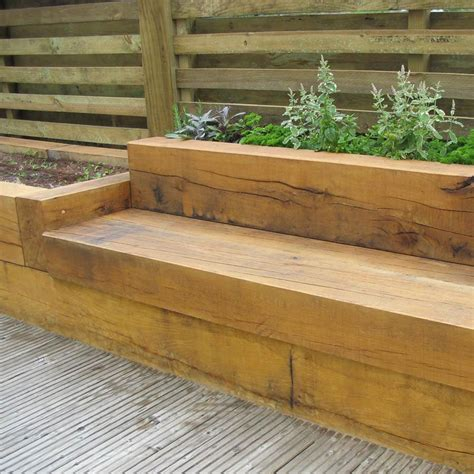 Seat Sleeper by Timber Sleeper Seating Landscape Timber Flower Beds