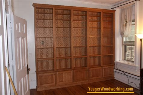 9 Foot Bookshelves by Yeager Woodworking Cabinetry And Home Improvements