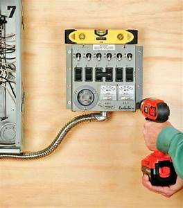 How To Install A Manual Transfer Switch For A Backup