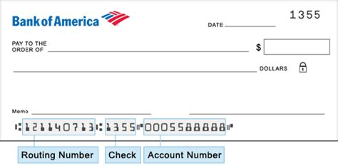 bank  america routing number  locations