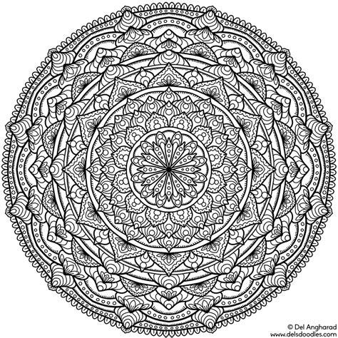 Coloring Krita by Krita Mandala 19