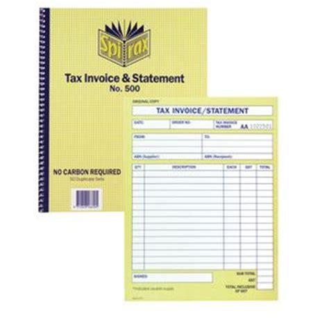 spirax tax invoice  statement book  officeworks