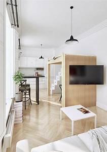 deco studio et petit appartement 4 exemples remarquables With meuble gain de place pour studio 1 lit gain de place et meuble pour amenagement petit espace